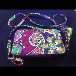 Vera Bradley All In One Cross body wristlet.